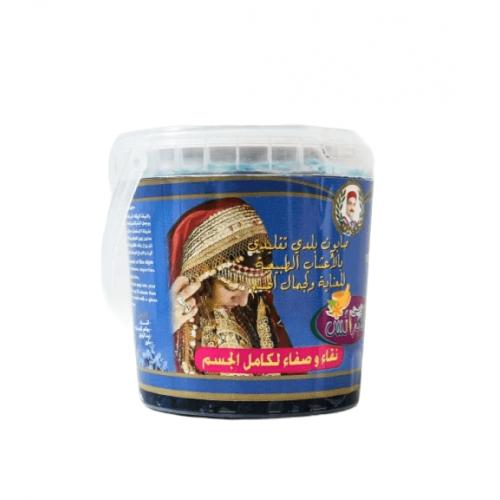الصابون المغربي الاصلي بالنيلة الزرقاء والودع من زين للعرائس